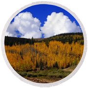Colorado Fall 2 Round Beach Towel