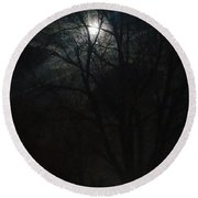 Colorado Full Moon Round Beach Towel