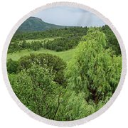Colorado Green Round Beach Towel