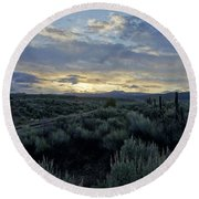 Colorado Morning Round Beach Towel