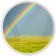 Colorado Rainbow Round Beach Towel