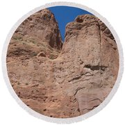 Colorado Redrock Round Beach Towel