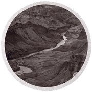 Colorado River At Desert View Grand Canyon Round Beach Towel
