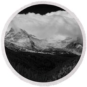 Colorado Rocky Mountains Continental Divide Round Beach Towel