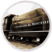 Colorado Southern Railroad 1 Round Beach Towel