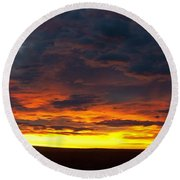 Colorado Sunrise February Round Beach Towel