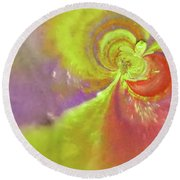 Colored Abstract Round Beach Towel