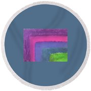 Colored Borders Round Beach Towel