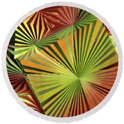 Colored Box Abstract Round Beach Towel