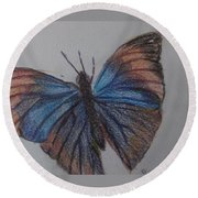 Colored Butterfly Round Beach Towel