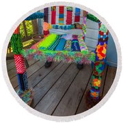 Colored Chair Round Beach Towel