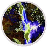 Colored Falls  Round Beach Towel