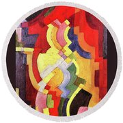Colored Forms IIi By August Macke Round Beach Towel