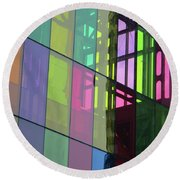 Colored Glass 11 Round Beach Towel