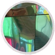 Colored Glass 14 Round Beach Towel
