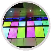 Colored Glass 8 Round Beach Towel