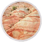 Colored Hill In Valley Of Fire Round Beach Towel