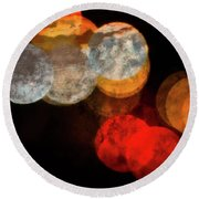 Colored Moons 1 Round Beach Towel