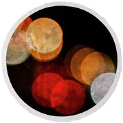 Colored Moons 3 Round Beach Towel