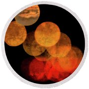 Colored Moons 4 Round Beach Towel