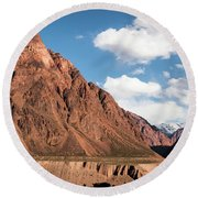 Colored Mountain Round Beach Towel