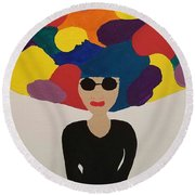 Color Fro Round Beach Towel