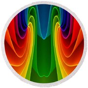 Colorful 2 Round Beach Towel