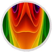 Colorful 3a Round Beach Towel