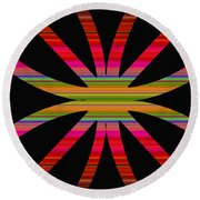 Colorful Abstract 11 Round Beach Towel