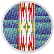 Colorful Abstract 13 Round Beach Towel