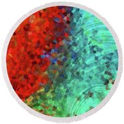 Colorful Abstract Art - Rejoice - Sharon Cummings Round Beach Towel