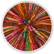 Colorful Abstract Photography Round Beach Towel