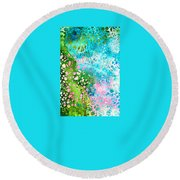 Colorful Art - Enchanting Spring - Sharon Cummings Round Beach Towel