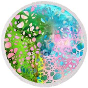 Colorful Art - Enchanting Spring - Sharon Cummings Round Beach Towel