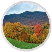 Autumnal Vermont Round Beach Towel
