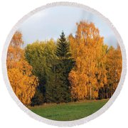 Colorful Autumn - Trees In Autumn Round Beach Towel