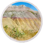 Colorful Badlands Of South Dakota Round Beach Towel
