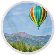 Colorful Balloon  Round Beach Towel