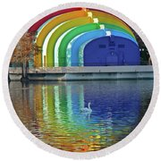 Colorful Bandshell Round Beach Towel