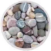 Colorful Beach Pebbles Round Beach Towel