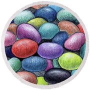 Colorful Beans Round Beach Towel