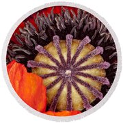 Colorful Bloom Round Beach Towel