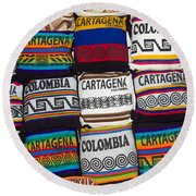 Colorful Cartagena Round Beach Towel