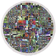 Colorful Chaotic Composite Round Beach Towel