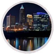 Colorful Cleveland Round Beach Towel