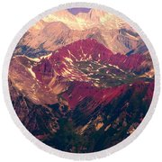 Colorful Colorado Rocky Mountains Round Beach Towel