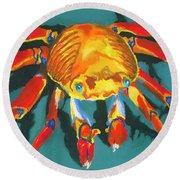 Colorful Crab II Round Beach Towel