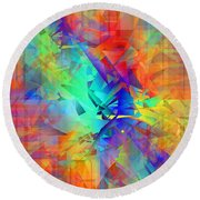 Colorful Crash 9 Round Beach Towel