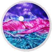 Colorful Desert Round Beach Towel