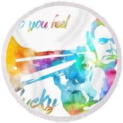 Colorful Dirty Harry Round Beach Towel